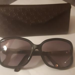 Beautiful Gucci sunglasses with bamboo handles
